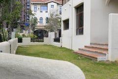 The spanish-style house backyard. Backyard of the new spanish-style house, zhangzhou city, china Royalty Free Stock Image