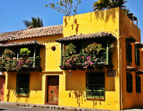 Spanish-style house at the historic city of Cartagena, Colombia Royalty Free Stock Photo