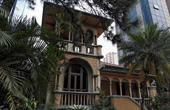 Spanish style House in Sao Paulo Royalty Free Stock Photo