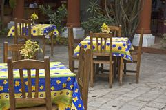Spanish Style Mexican Restaurant. Spanish Style Courtyard Mexican Restaruant in Chiapas, Mexico Stock Photography