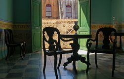 Spanish style room in Cuba Royalty Free Stock Image