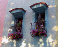 Spanish style windows royalty free stock photo