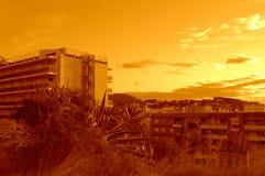 Spanish summer resort daybreak Royalty Free Stock Image