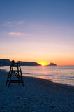 Spanish sunrise royalty free stock photography