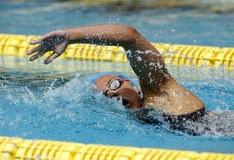 Spanish swimmer Maria Vilas Royalty Free Stock Images