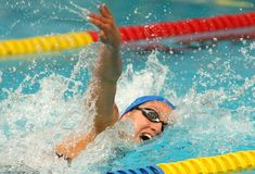 Spanish swimmer Mireia Belmonte Stock Photography