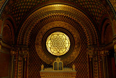Spanish Synagogue in Prague, Czech Republic Stock Photos