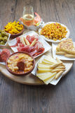 Spanish tapas. Traditional from spanish cuisine, variety of typical tapas royalty free stock images
