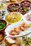 Spanish tapas bar food Stock Photo