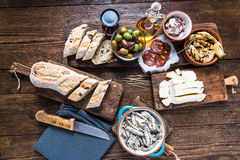 Spanish tapas, bar or street food Stock Images