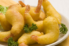 Spanish tapas. Batter-dipped prawns. Stock Photo