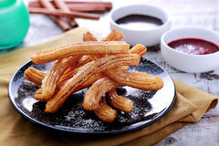 Spanish tapas churros stock photo
