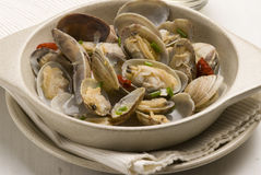 Spanish tapas. Clams. Stock Photo