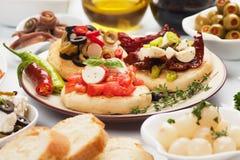 Spanish tapas food Stock Image