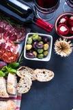 Spanish tapas , food border background Stock Photography