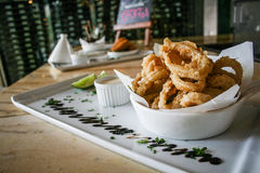 Bar Appetizers Grated Squid Tapas Stock Images
