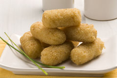 Spanish tapas. Ham croquettes. Stock Photo