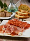 Spanish tapas with ham and pâté Stock Image