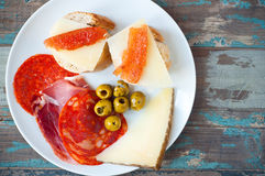 Spanish tapas lunch Royalty Free Stock Image