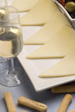 Spanish tapas. Manchego cheese. Stock Images