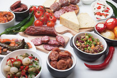 Spanish tapas menu Royalty Free Stock Images