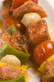 Spanish tapas.Moroccan style kebabs. Stock Photography