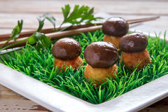 spanish tapas mushroom fritters Royalty Free Stock Photos