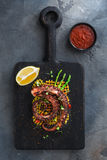 Spanish tapas. Octopus Galicia style.Typical appetizer Stock Image