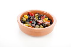 Spanish Tapas Olives Royalty Free Stock Photography