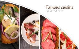 Spanish tapas photo collage Royalty Free Stock Photo