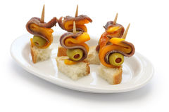 Spanish tapas pinchos Stock Photography
