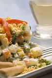 Spanish tapas. Russian salad. Stock Photos