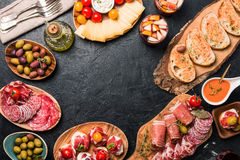 Spanish tapas and sangria stock photography