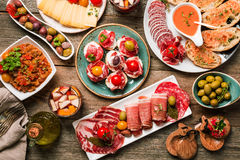 Spanish tapas and sangria royalty free stock images