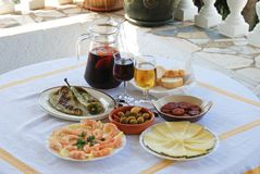 Spanish Tapas Selection, Andalusia. Royalty Free Stock Images