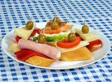 Spanish tapas selection. Stock Photo
