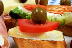 Spanish tapas selection, Spain. Royalty Free Stock Photography