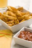 Spanish tapas. Spicy potatoes. Stock Photo