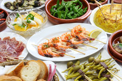 Spanish tapas variety Stock Photos