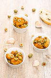 Spanish tappa chicken breast with olives Royalty Free Stock Photography