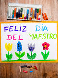 Spanish Teachers Day Stock Photos