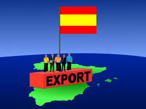 Spanish team on container Stock Photos