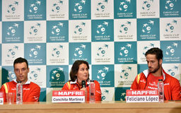 Spanish tennis players during a Davis Cup press conference Stock Images
