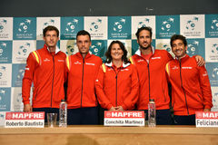 Spanish tennis team posing for a group photo Stock Photo