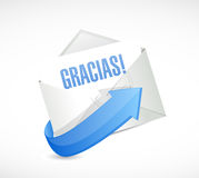 Spanish thanks letter sign illustration Royalty Free Stock Photos
