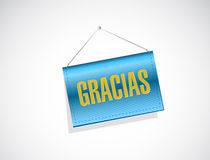 Spanish thanks message banner sign Stock Photography