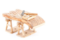 Spanish threshing board made in Cantalejo, Segovia Royalty Free Stock Image