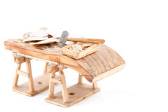 Spanish threshing board made in Cantalejo, Segovia Stock Photo