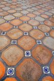 Spanish tile floor stock image