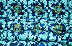 Spanish Tile in Pool. Spanish tile underwater in a swimming pool royalty free stock photography